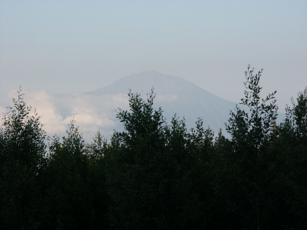 Mount Meru from the football pitch at Londorosi.
