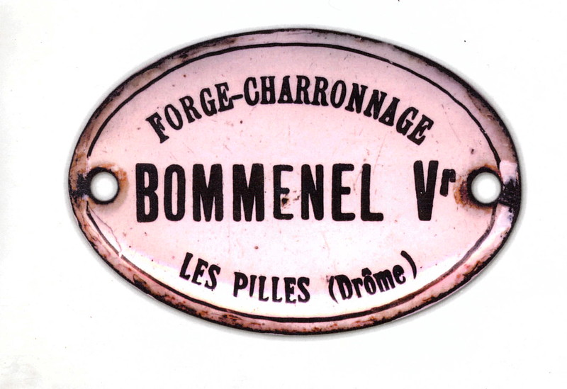 plaque Charron Bommenel LesPilles