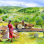 Romano british landscape by Alan Marshall
