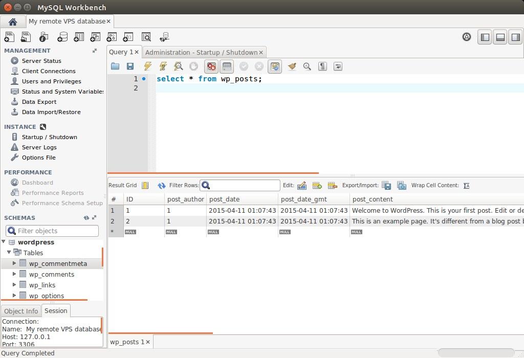 ... MySQL Workbench - Run Query - by xmodulo