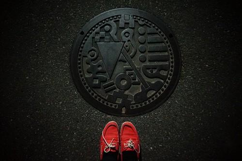 Manhole in Hakata, Fukuoka | by Curry puff, lah!