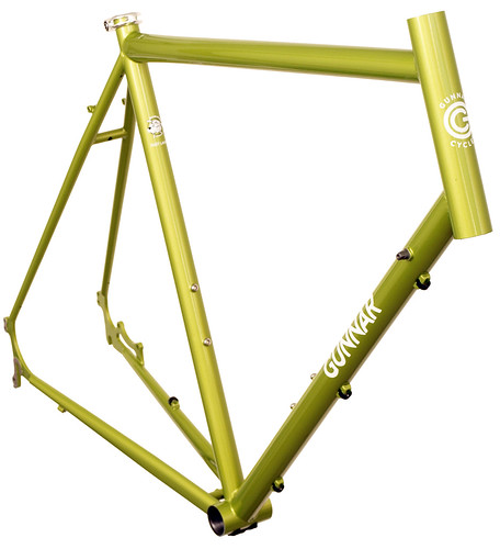 <p>Gunnar Fastlane in Green Orchid.  The Fastlane is ideal for commuting; gravel racing; medium touring and lots of other kinds of riding.  The chainstay disc mounts let you add a rear rack and provide excellent wet weather braking.</p>