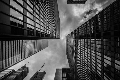 Looking up in the Financial District | by Matt Henry photos