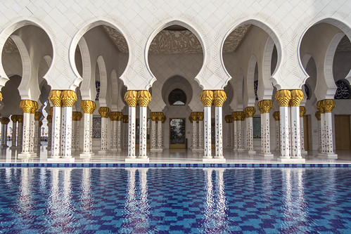Sheikh Zayed Grand Mosque: Colonade and Reflecting Pool | by andryn2006