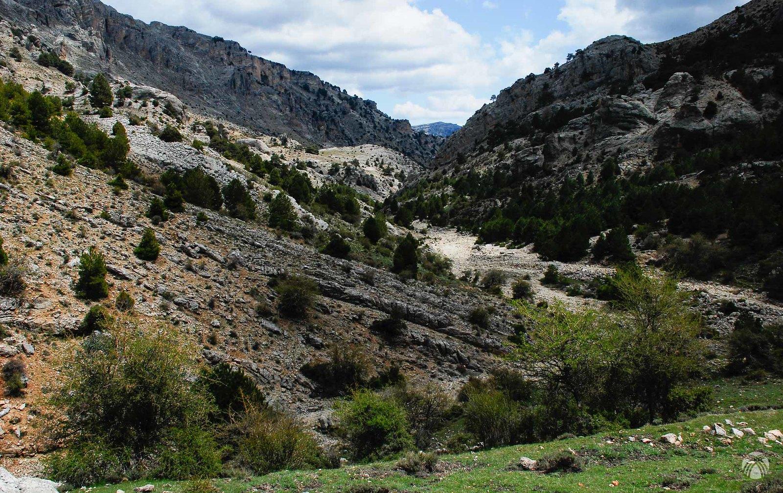 Parte superior del barranco