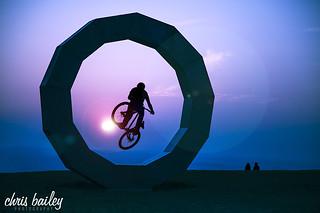 Chris Smith, Pro Mountain Bike Freerider   by Chris Bailey Photographer