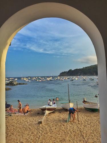 Playa de Calella de Palafrugell (Costa Brava, Cataluña)