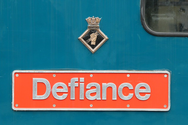 Nameplate detail, 50049 'Defiance'
