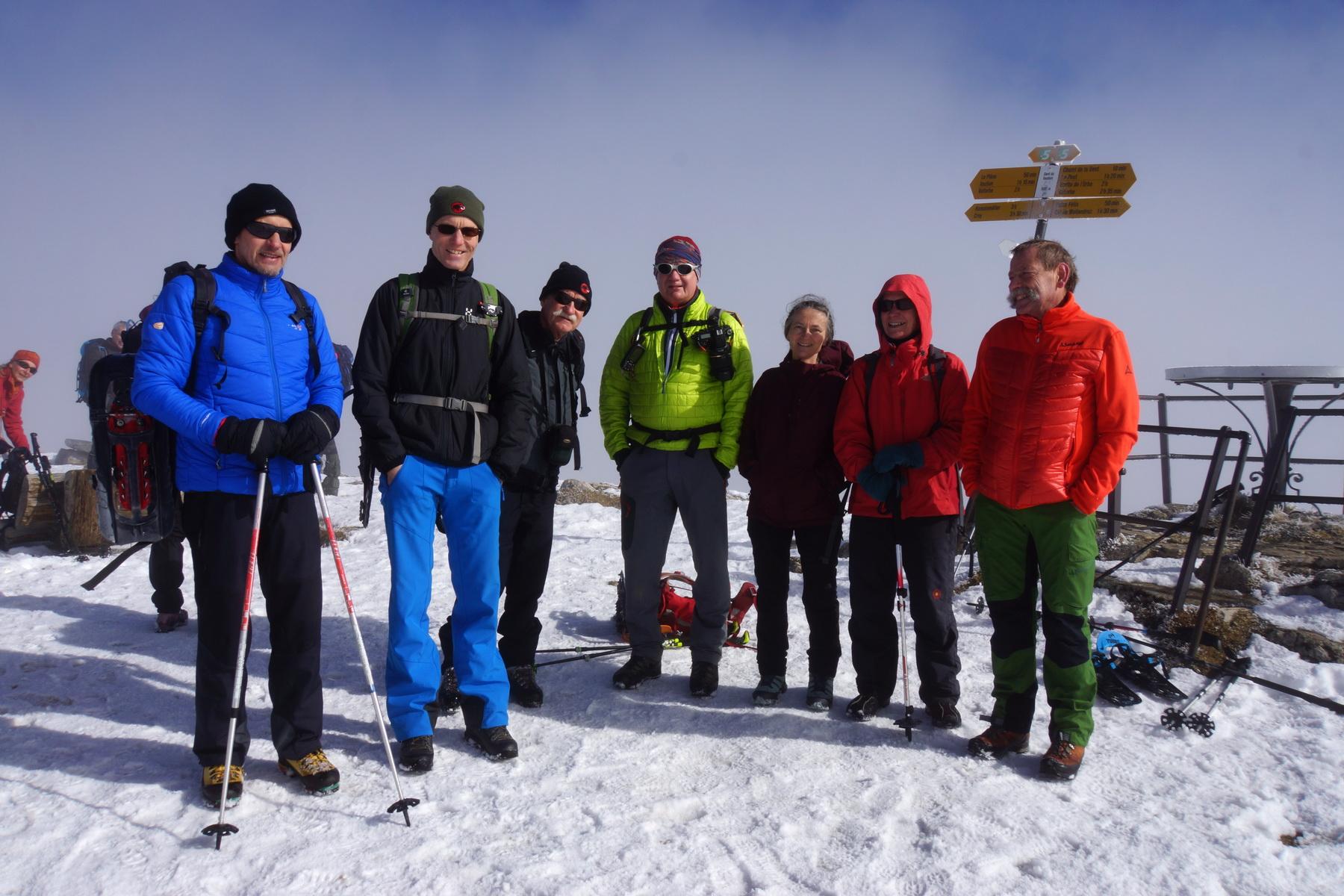Schneeschuhtour Dent de Vaulion 18.02.2017