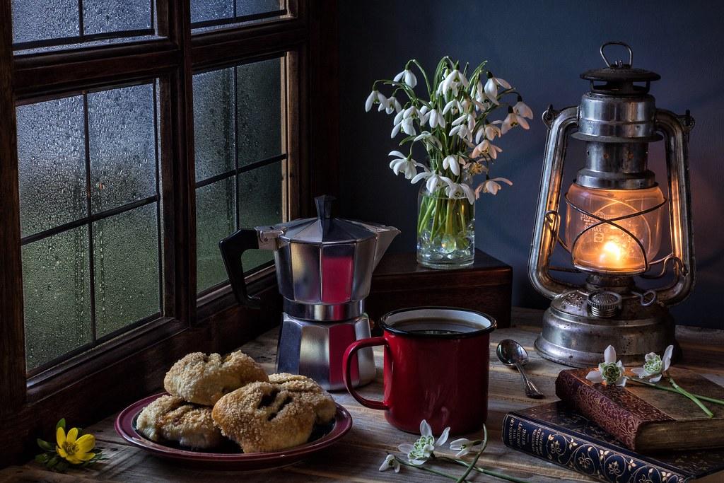 Breakfast on a Wet Spring Morning