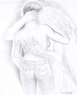 Butch lesbian and her girlfriend pencil drawing | by DeseneSiPicturiDeCorina