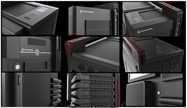 CPU Thermaltake Level 10 GT - 3D Rhino - Detalles Render