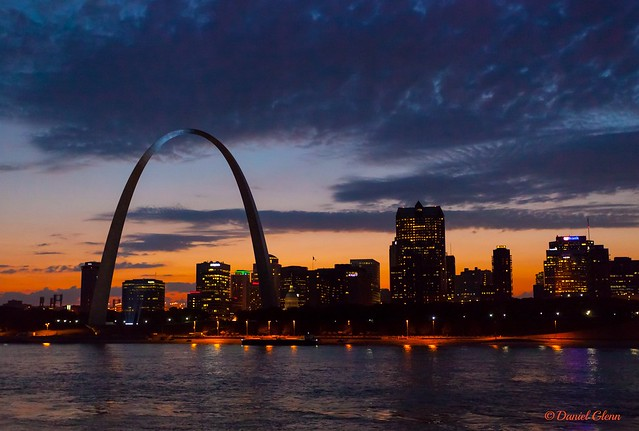 The Gateway Arch and St. Louis skyline