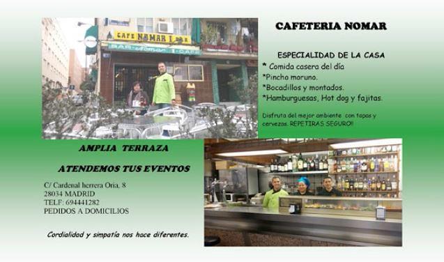 Cafeteria Nomar Comision De Fiestas De Fuencarral Flickr
