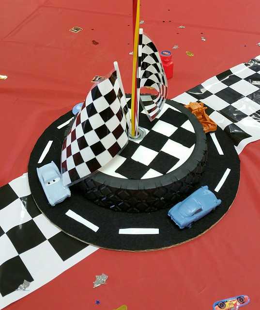 Cars themed centerpiece