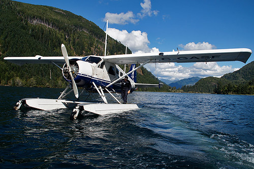 Float Plane in Fair Harbour, Kyuquot Sound, Vancouver Island, British Columbia, Canada. Photo: Santa Brussouw.