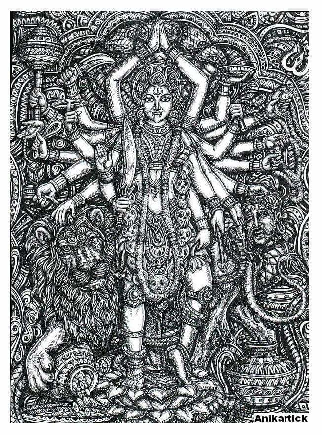 INDIAN GODS / DRAWING / ART / CONCEPTS / PAINTINGS / SKETC… | Flickr