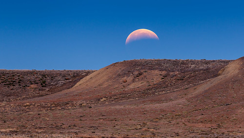 Lunar Eclipse Moonset   by IntrepidXJ