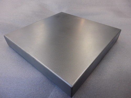 122 - Standard Zinc Top, Wrapped Sides, Welded Corners, Satin Finish