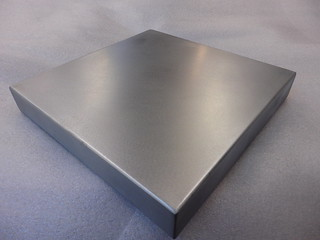 122 - Standard Zinc Top, Wrapped Sides, Welded Corners, Satin Finish | by Metal Sheets Limited