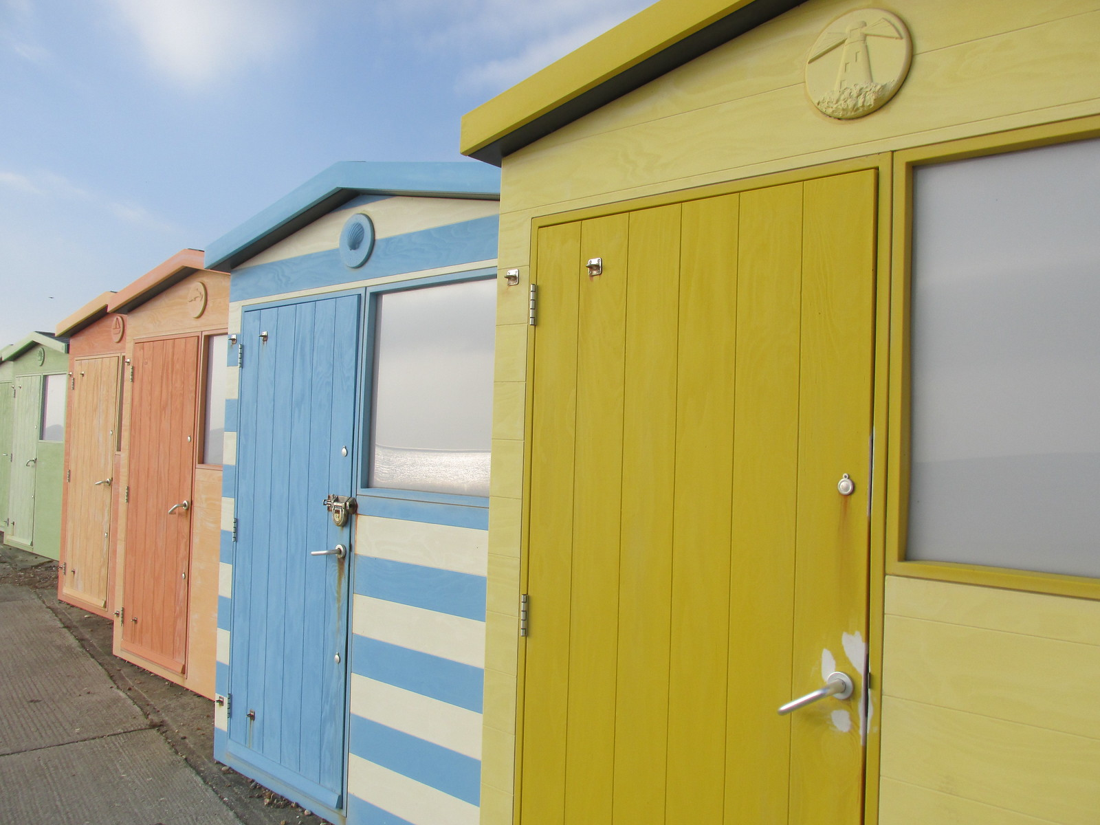 April 6, 2015: Glynde to Seaford Seaford beach huts