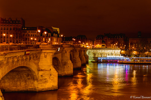 longexposure bridge light sky paris france reflection seine night clouds cityscape autofocus flickrbronzetrophygroup