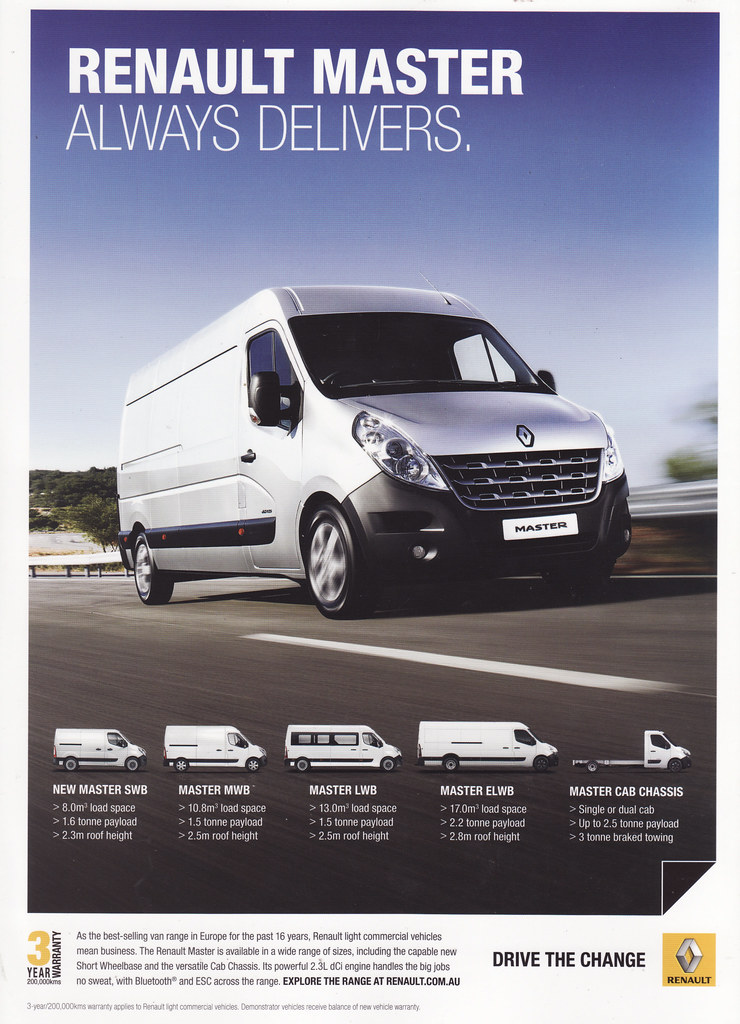 2014 Renault Master Truck Ad - Australia | Covers the 2014 R