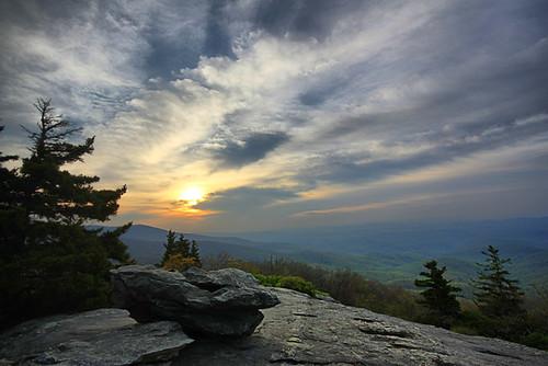 park blue sunrise cloudy north ridge national parkway carolina heights beacon