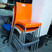 Tall plastic bar stool €40