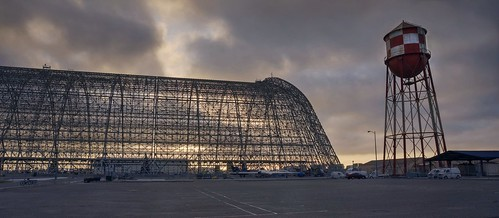 hdr 3xp nex6 photomatix california sanfranciscobay cloudy cloud dawn sunrise day morning sky selp1650 outdoor raw mountainview moffettfield moffettfederalairfield nasaames nasaamesresearchcenter nasa hangarone watertower skeleton structure building abandoned fav200 siliconvalley