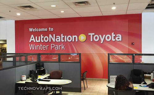 Custom printed vinyl wall wrap graphics