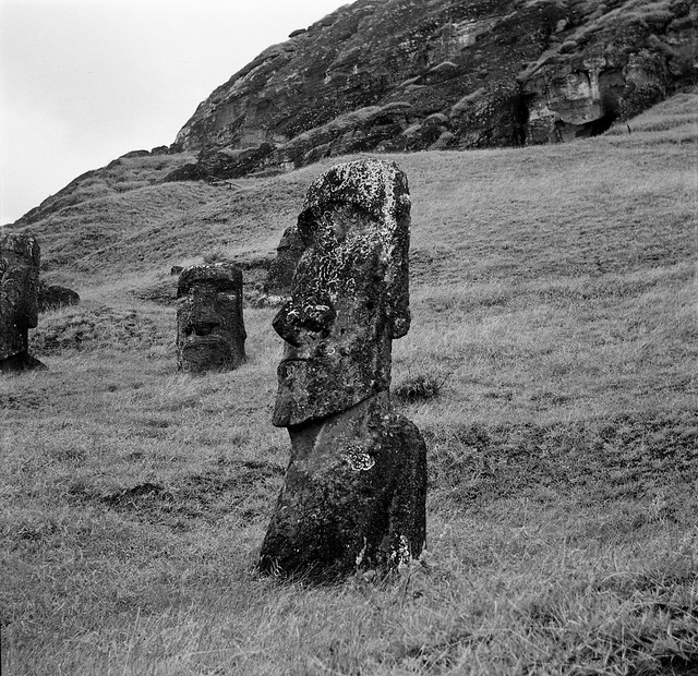 The Moai Quary - Easter Island