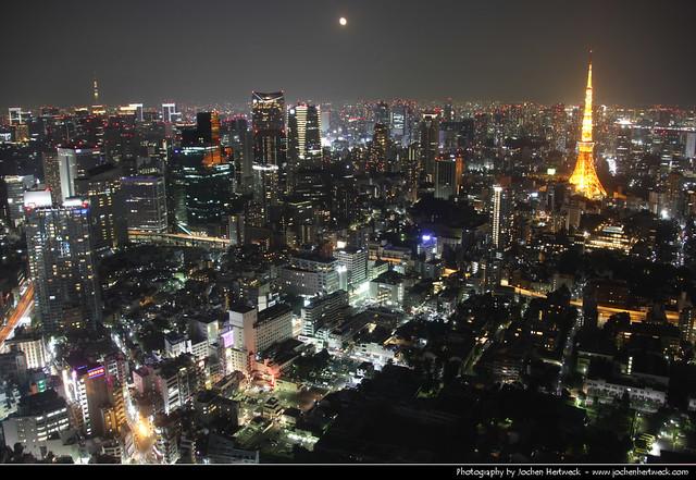 View from Roppongi Hills Mori Tower @ Night, Tokyo, Japan