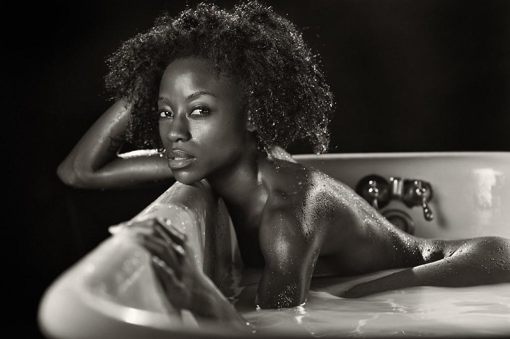 Sibongile In The Tub | Actress SIBONGILE MLAMBO from our