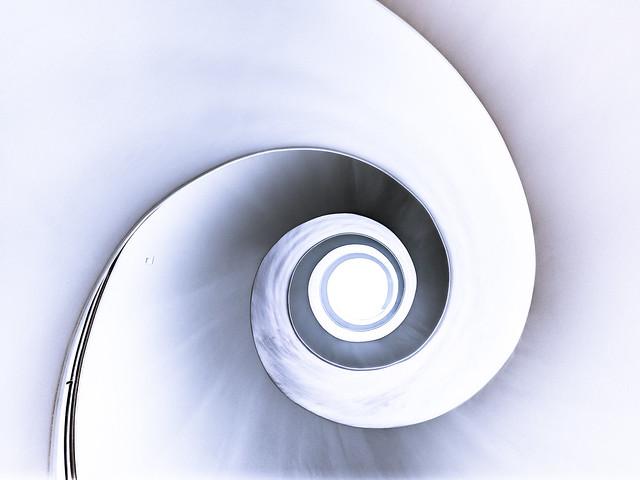 spiral view up