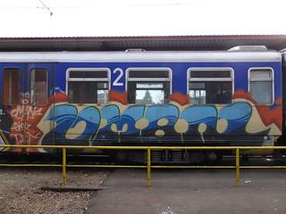 Zagreb train graffiti   by duncan
