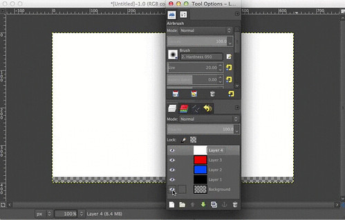 GIMP Hide and Show All Other Layers | by amayem