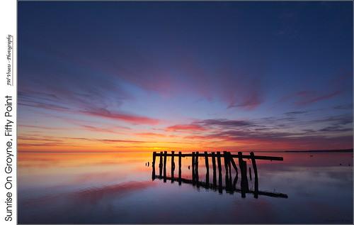 sunrise dawn pier nikon hamilton gimp pilings lakeontario opensource winona grimsby groynes nikkor1224mm d7100 rawtherapee fiftypoint