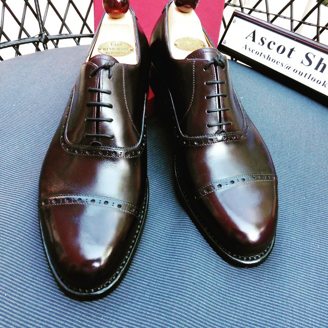 The beautiful R last from Vass. I Ascot Shoes is a British