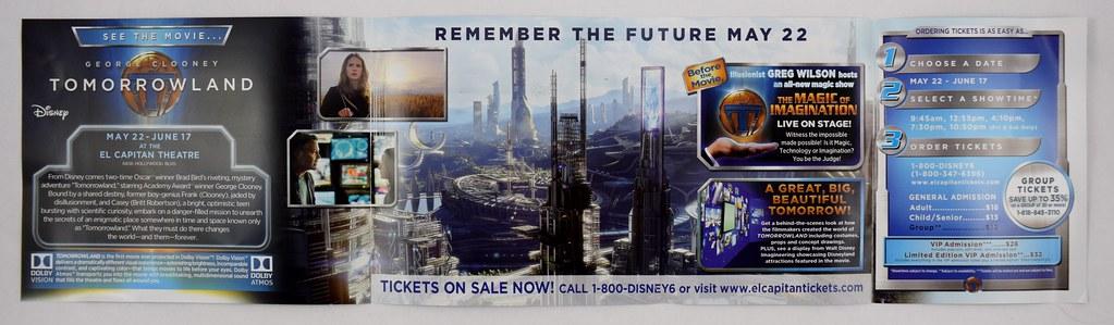 Tomorrowland Promo Brochure - El Capitan Theatre - Inside … | Flickr