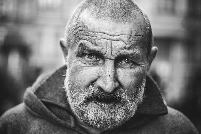 he was a photojournalist in the past, but now he is homeless