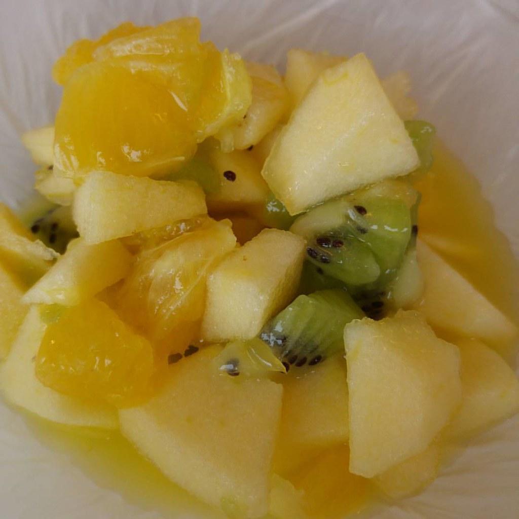 ensalada de tres frutas comida facil