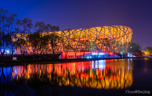 "national ""the 鳥巢 thebirdsnest nikkorais20mmf28 國家體育中心 stadiumbeijingchinareflectionlong"