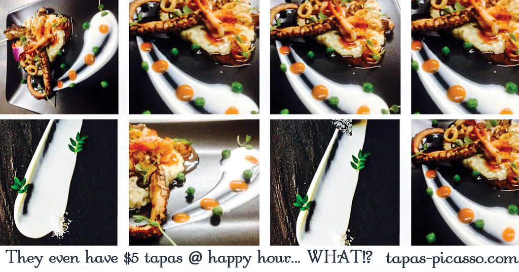 Gastro Art The Art Of Plating Tapas Picasso Reservation Flickr