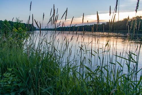 sunset river us unitedstates iowa vinton cedarriver