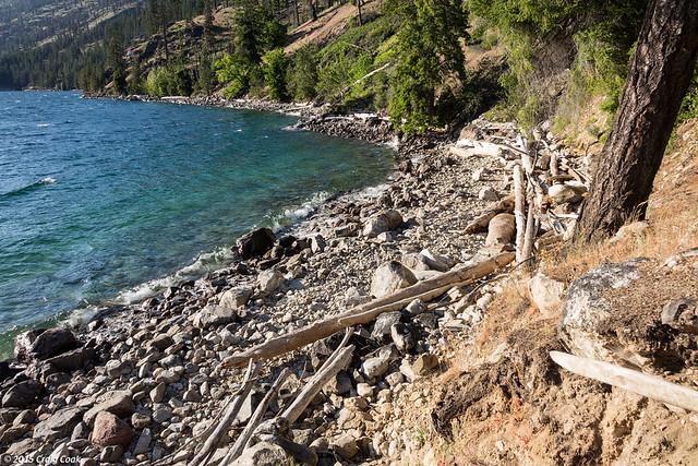 Beach next to our campsite @ Cascade Creek