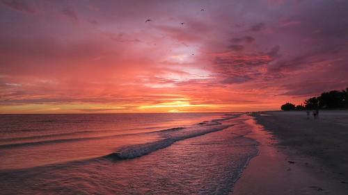 sunset sea usa beach strand sunrise canon landscape meer sonnenuntergang florida landschaft sonne sonnenaufgang s100 holmesbeach annamariaisland