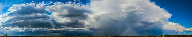 051715 - Afternoon Nebraska Thunderstorm (Pano)