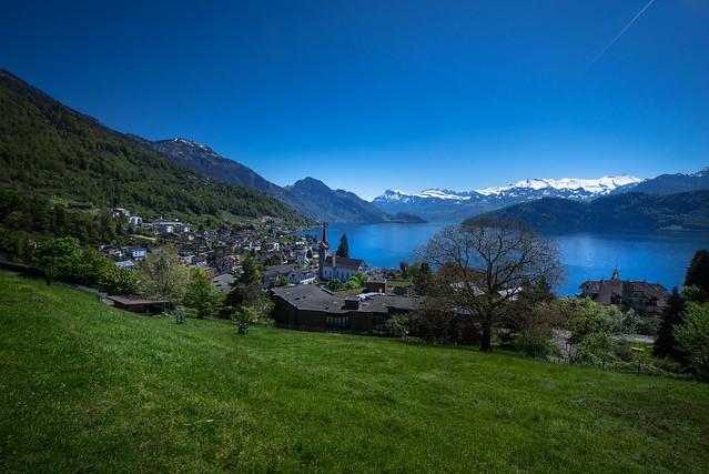 Spring view to Weggis - Switzerland