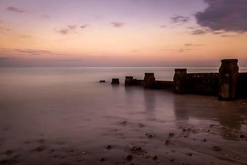 longexposure sunset sea blur beach water skyline sussex sand nikon wave pebbles eastbourne groyne beachyhead danielcoyle d3100 nikond3100 eastbournegroyne